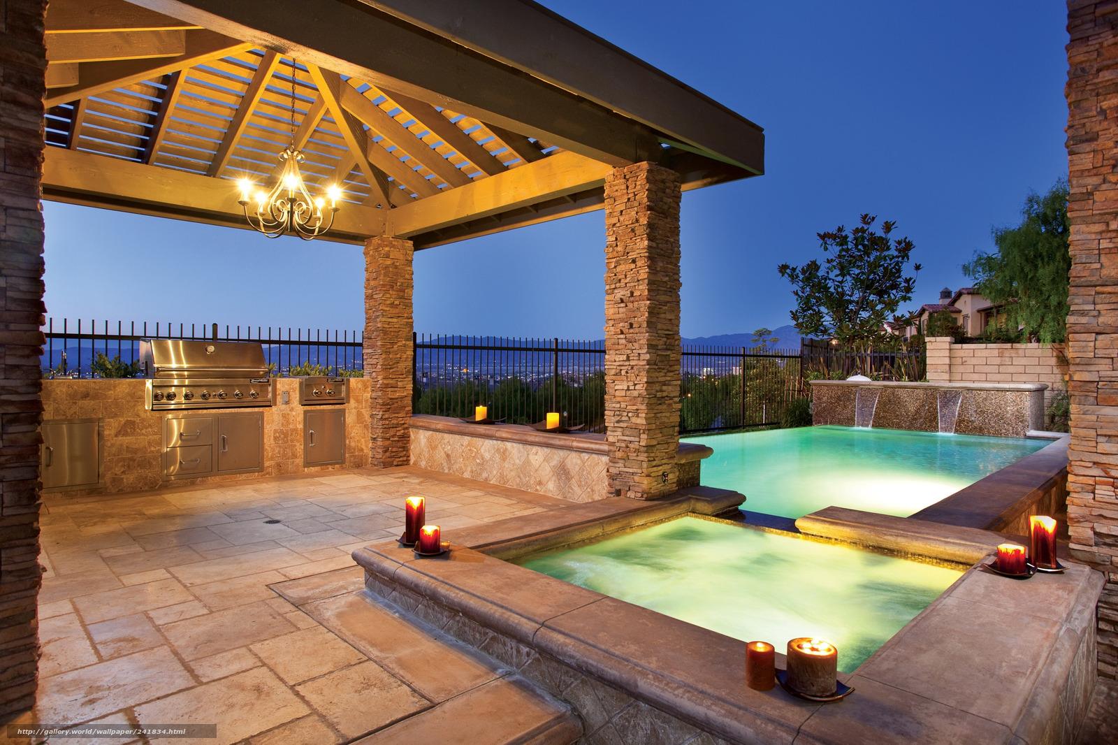 Scaricare gli sfondi piscina candele natura paesaggio for Candele per piscina
