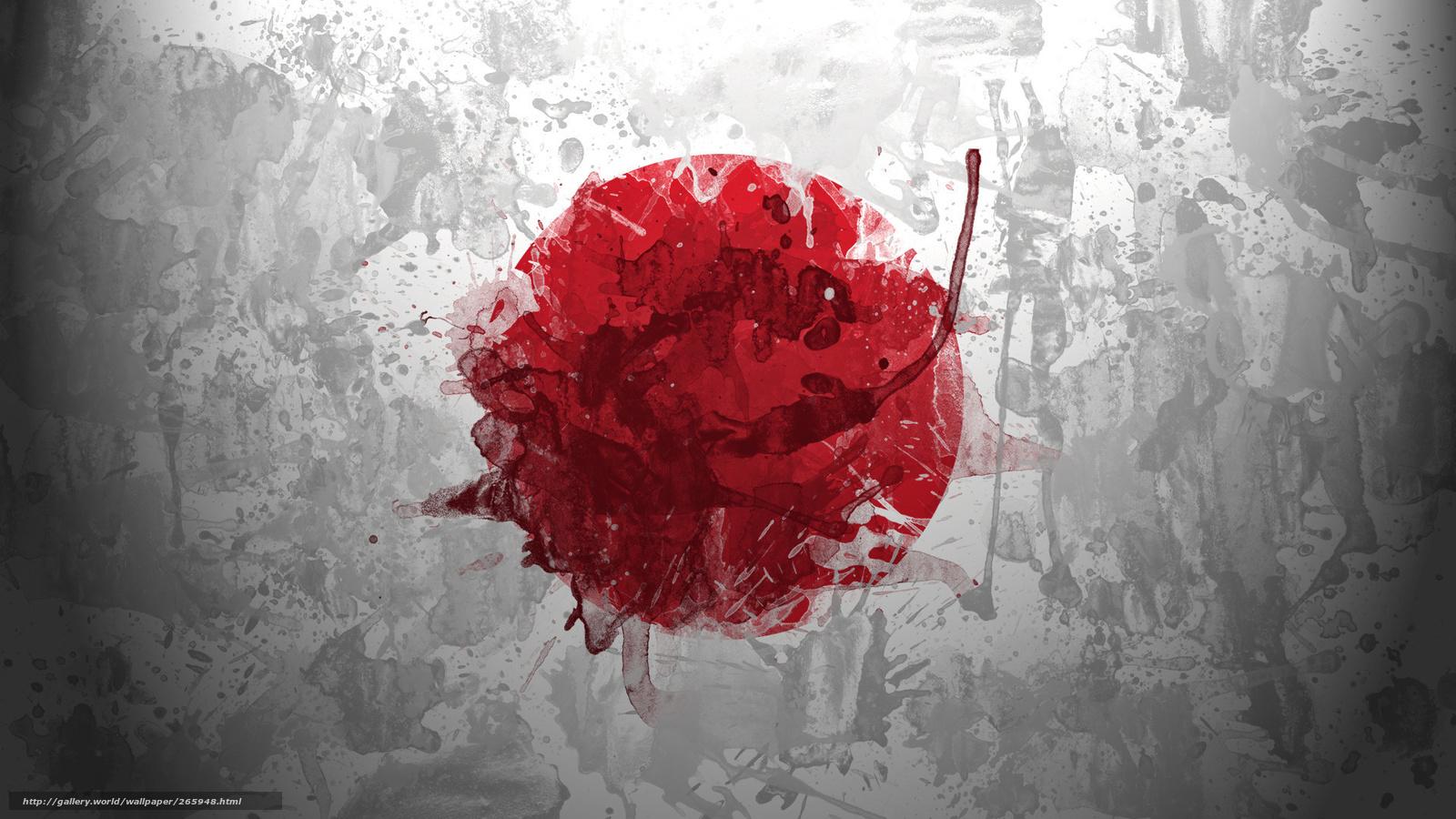 Download hintergrund japan japanische flagge flagge freie desktop