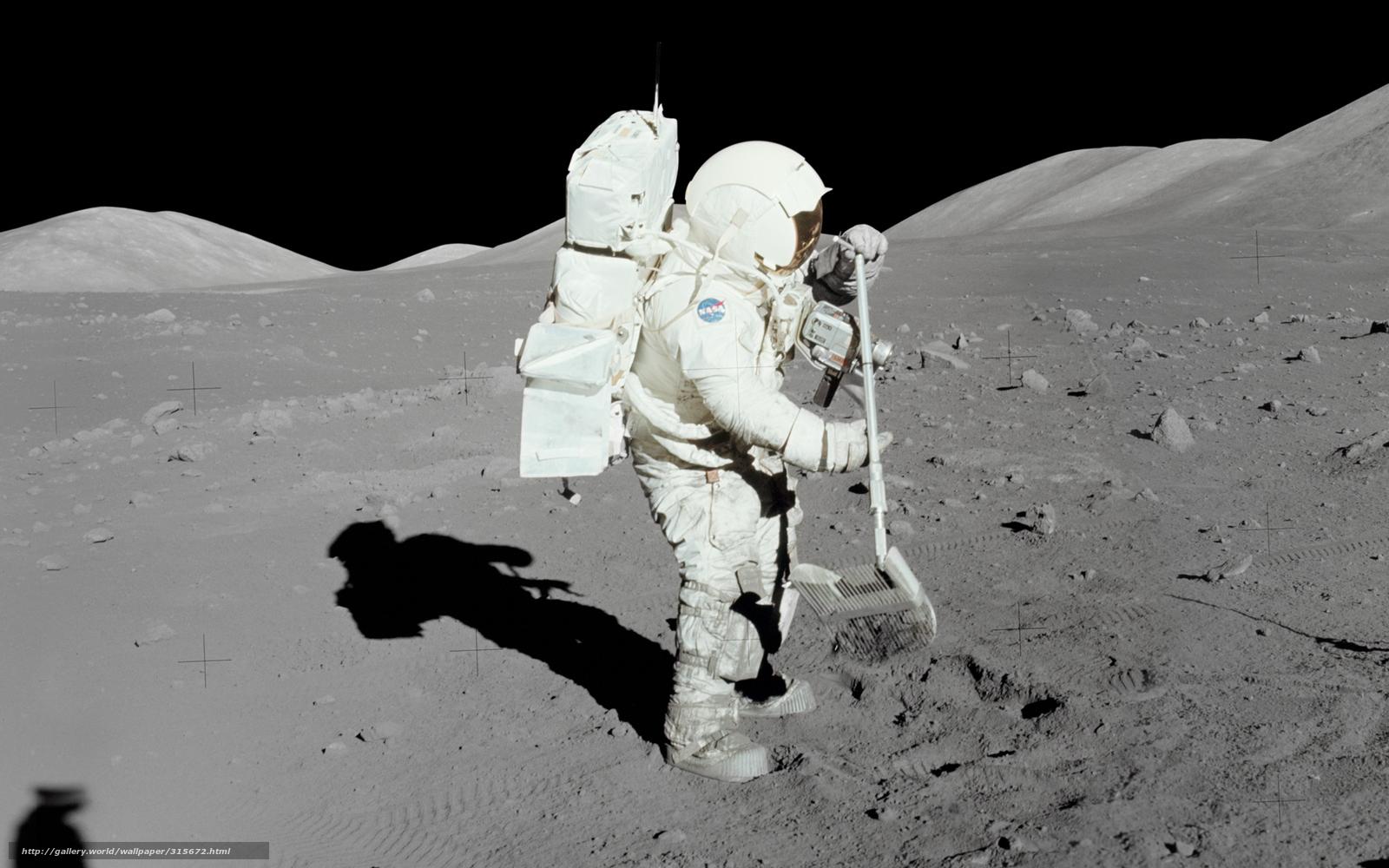 Download hintergrund astronaut mond boden freie desktop for Boden desktop
