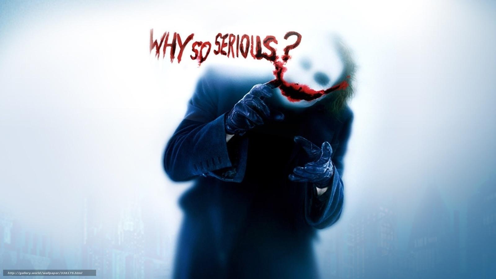 Joker Wallpaper Warum so ernst