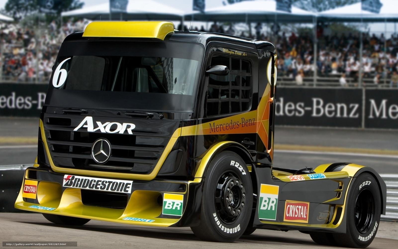 Tlcharger Fond d'ecran Mercedes, camion, voiture de course, avant Fonds d'ecran gratuits pour ...