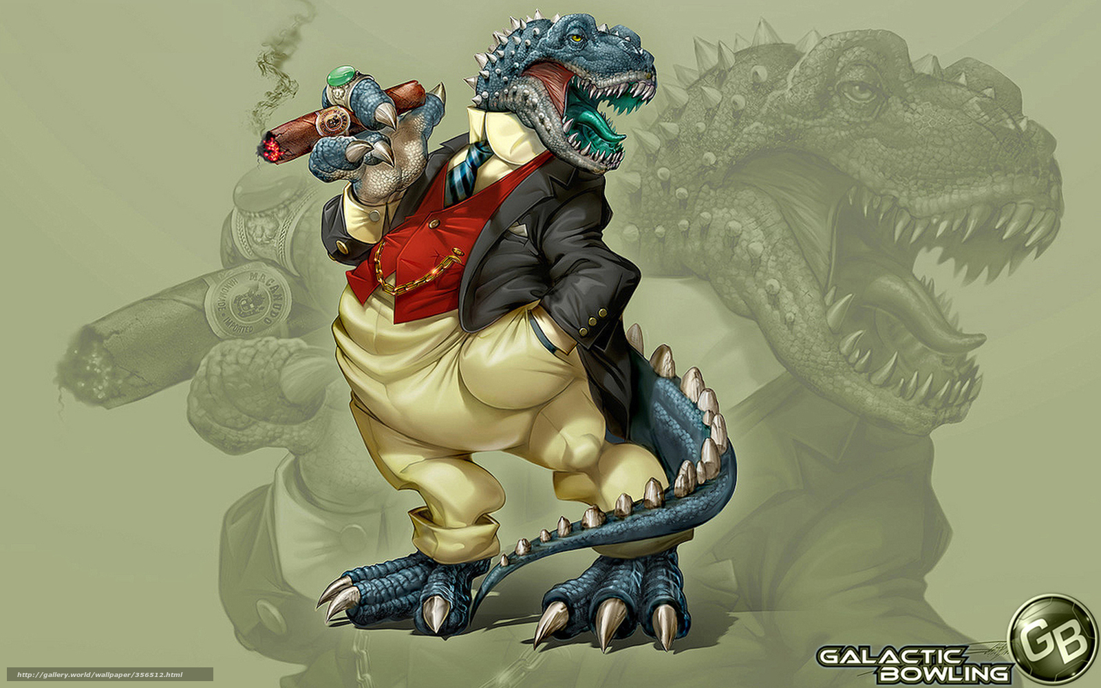 Download wallpaper dragon,  cool dragon,  in costume,  in a tie free desktop wallpaper in the resolution 1680x1050 — picture №356512