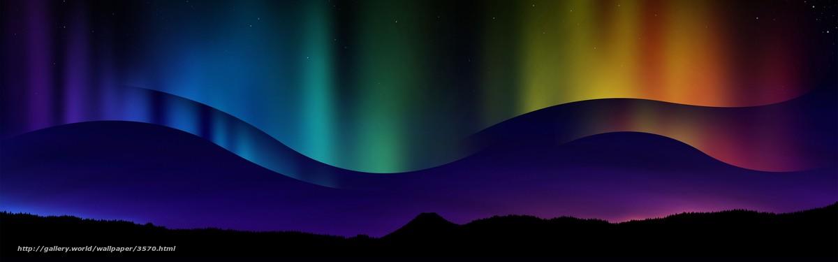 3840x1200 3570 for Sfondi aurora boreale