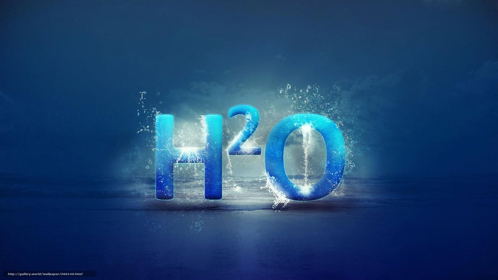 Скачать обои h2o, вода, надпись, формула бесплатно для рабочего ...