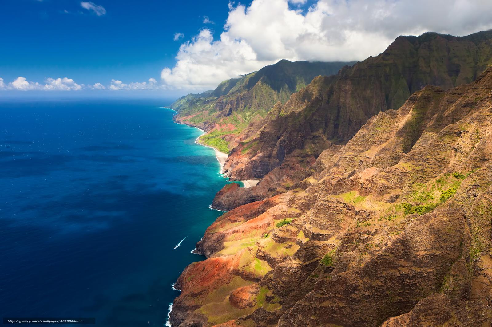 Tlcharger Fond d'ecran Hawaii, cte, Montagnes, nuages Fonds d'ecran gratuits pour votre ...