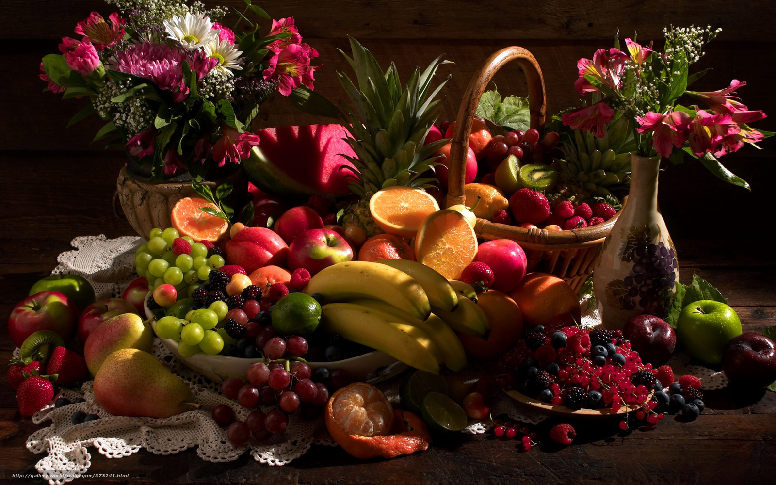 Food Fruits and Flowers
