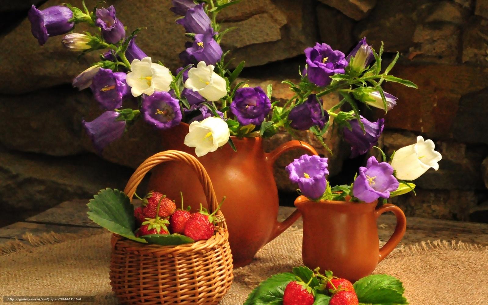 Цветы букет цветок колокольчики