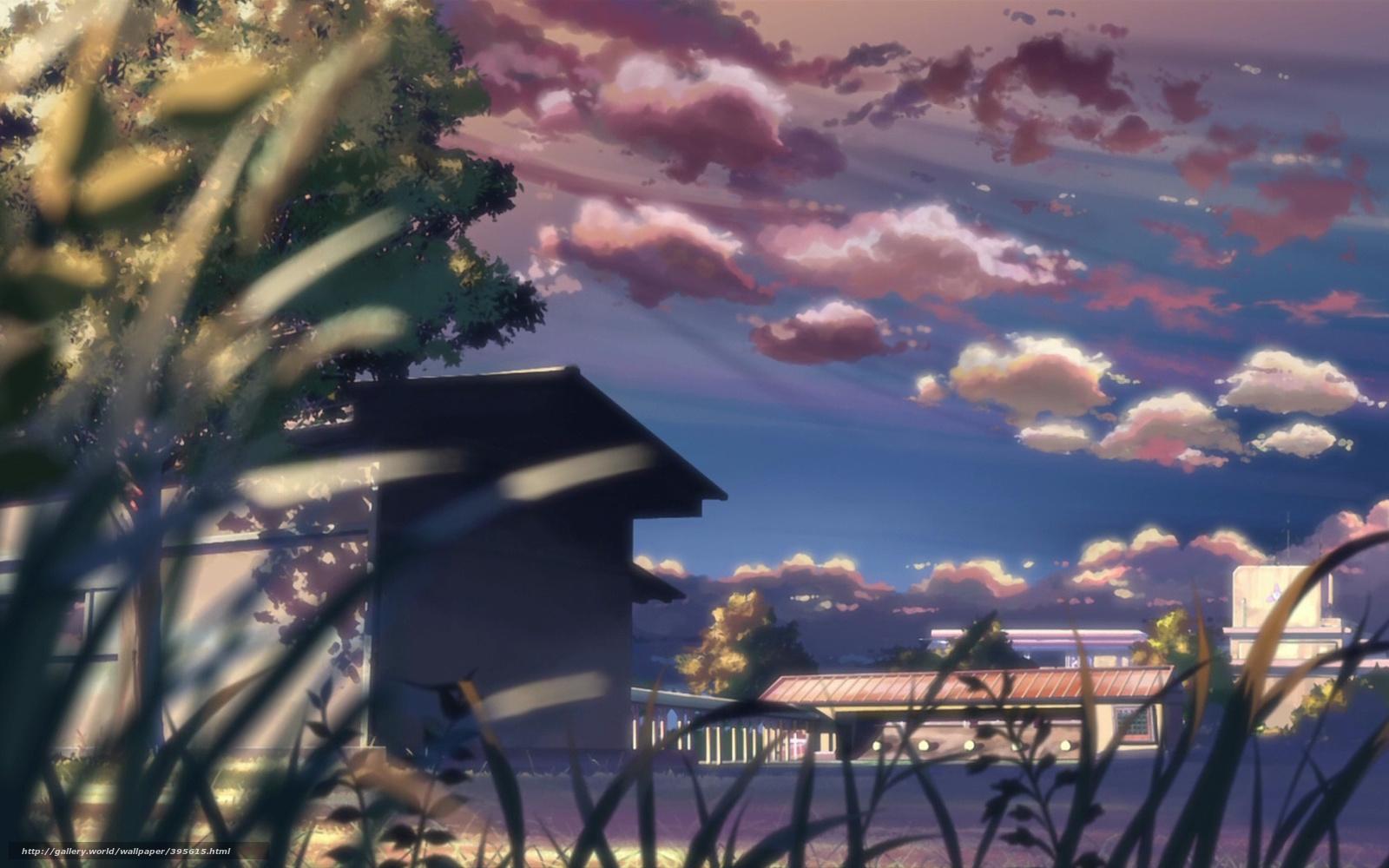 壁紙をダウンロード 新海誠, 風景, 夏, 庭 ... 壁紙をダウンロード 新海誠, 風景, 夏