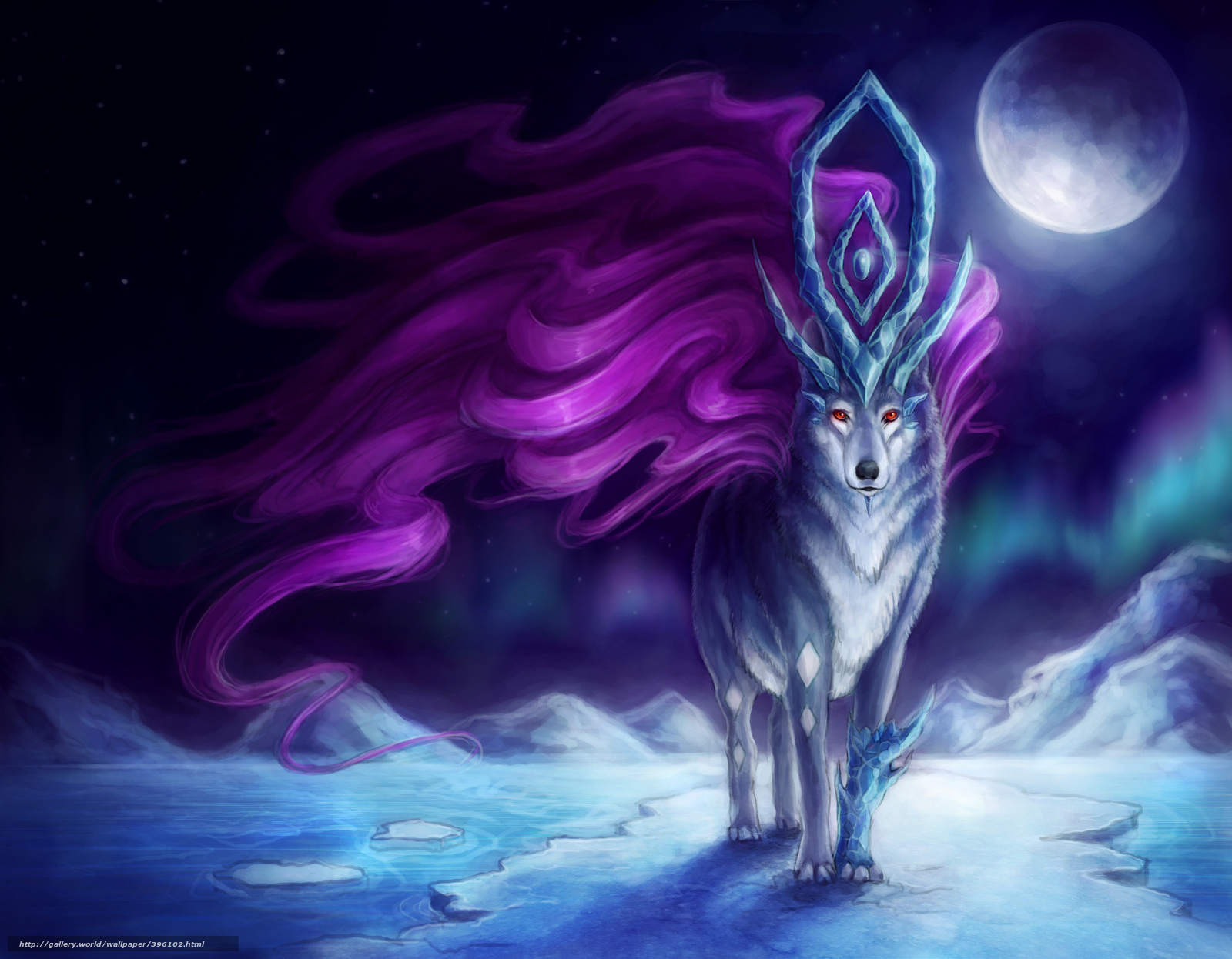 Magic wolf wallpapers - photo#16