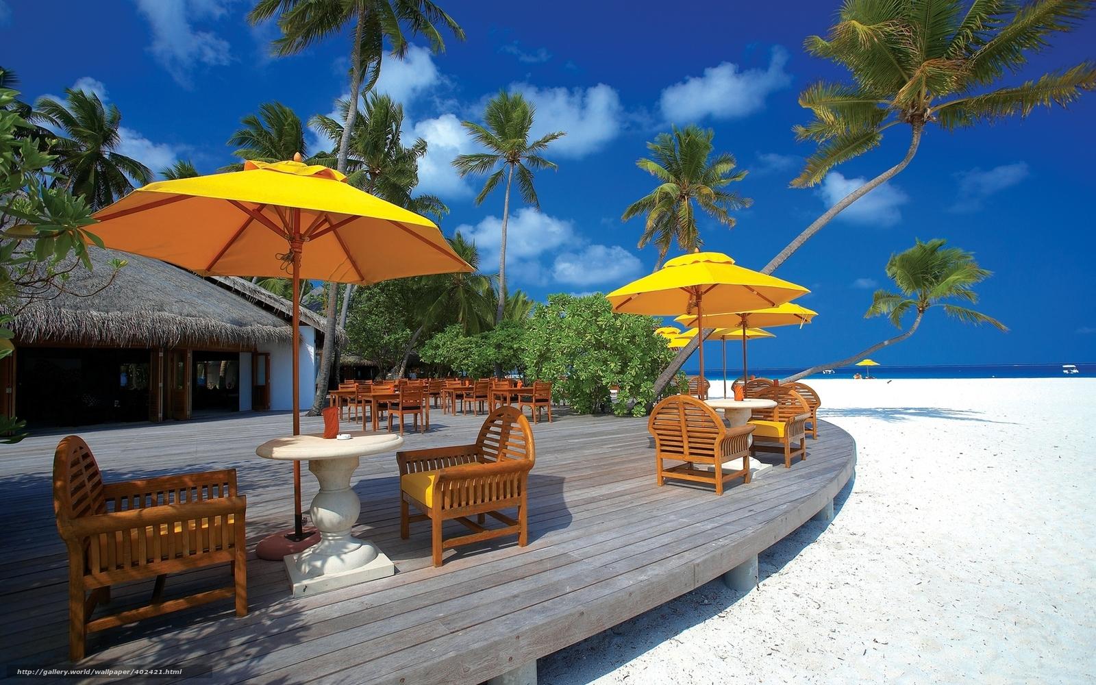 Beach Chair Desktop Wallpaper: Download Wallpaper Maldive Islands, Architecture, Beach