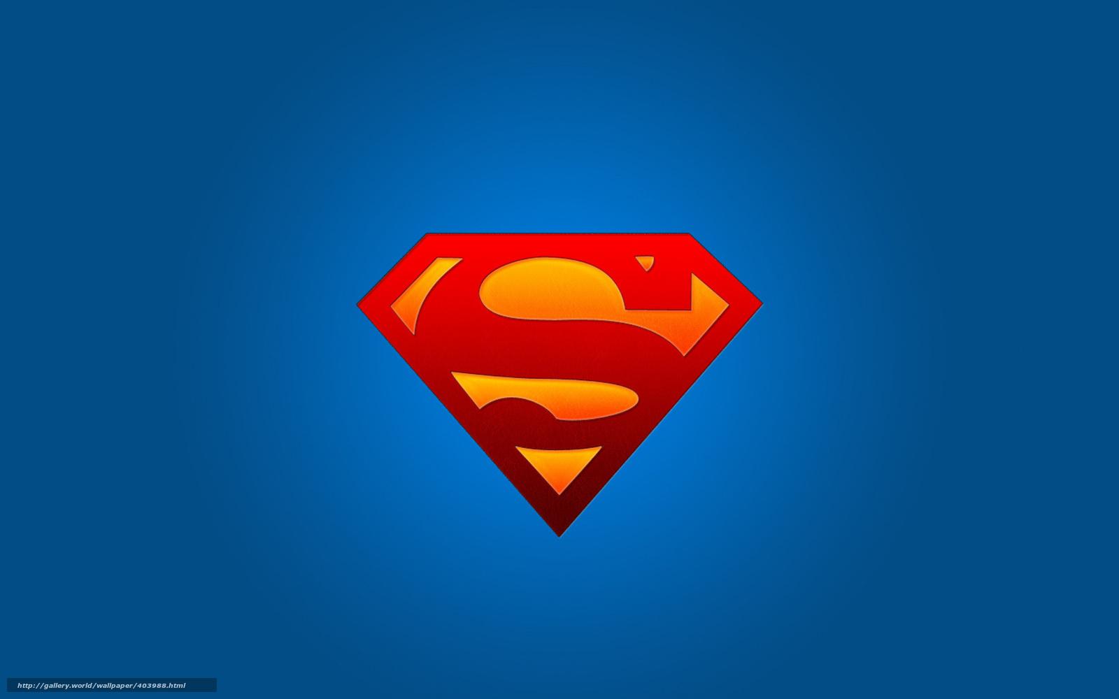 Tlcharger fond d 39 ecran superman logo symbole super hros - Symbole de superman ...