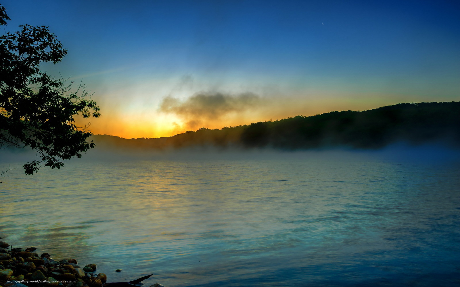 Download wallpaper morning river fog landscape free desktop