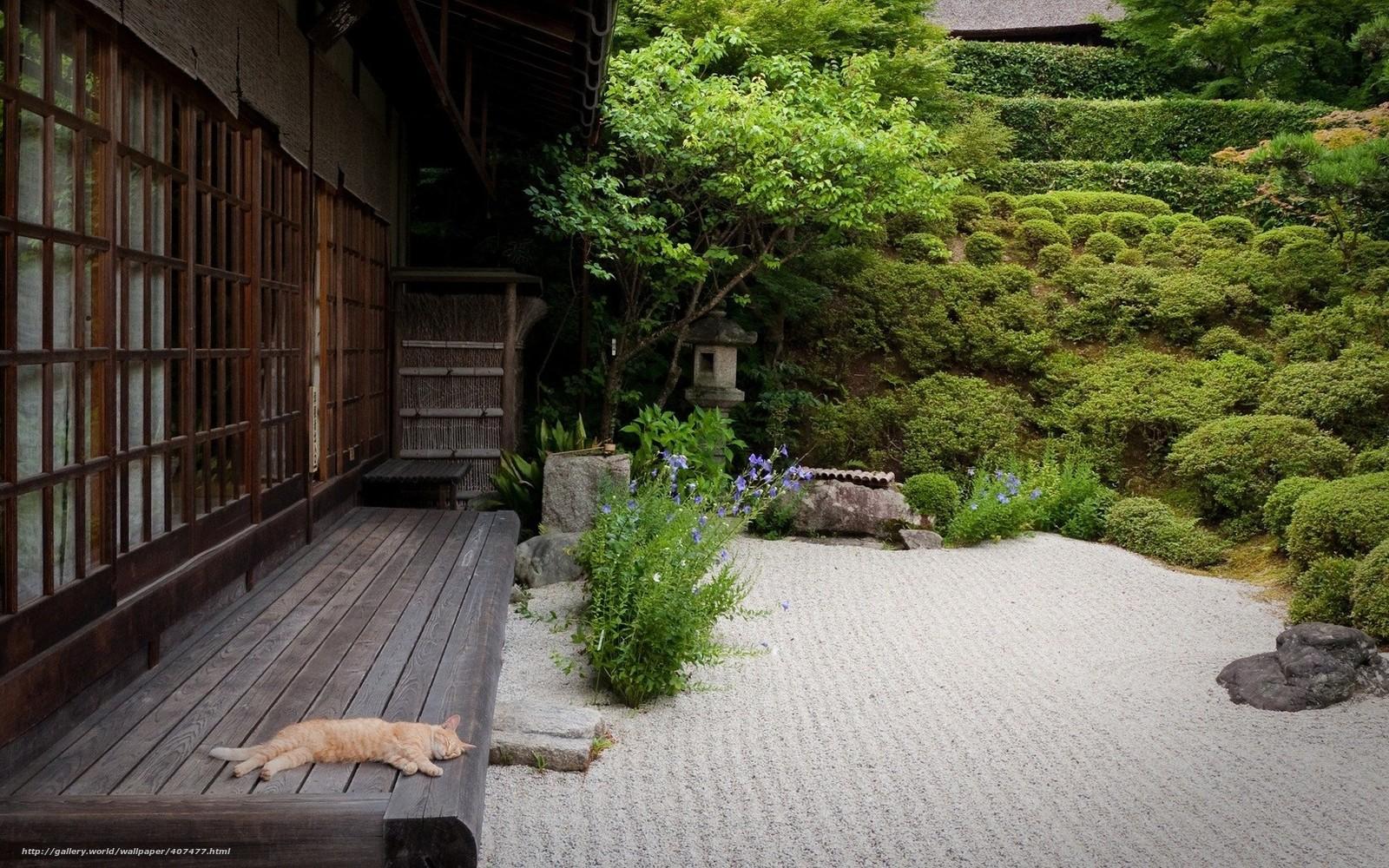 Tlcharger Fond decran Japon, maison, jardin, patio Fonds decran ...
