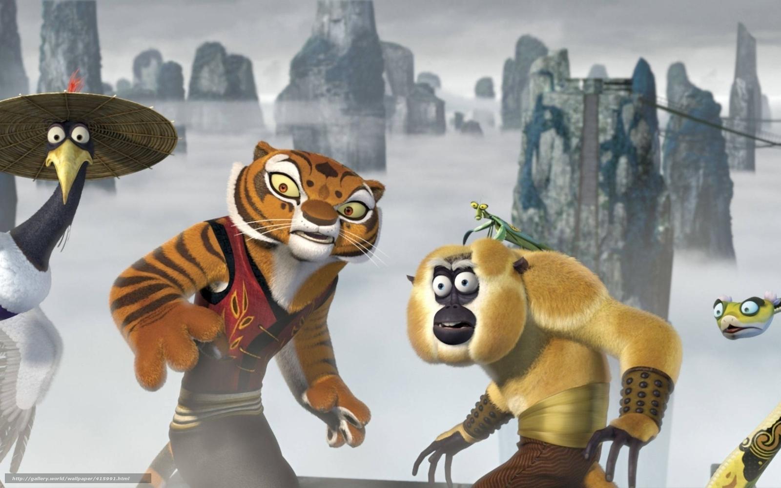 Tlcharger fond d 39 ecran kung fu panda furious five grue - Singe kung fu panda ...