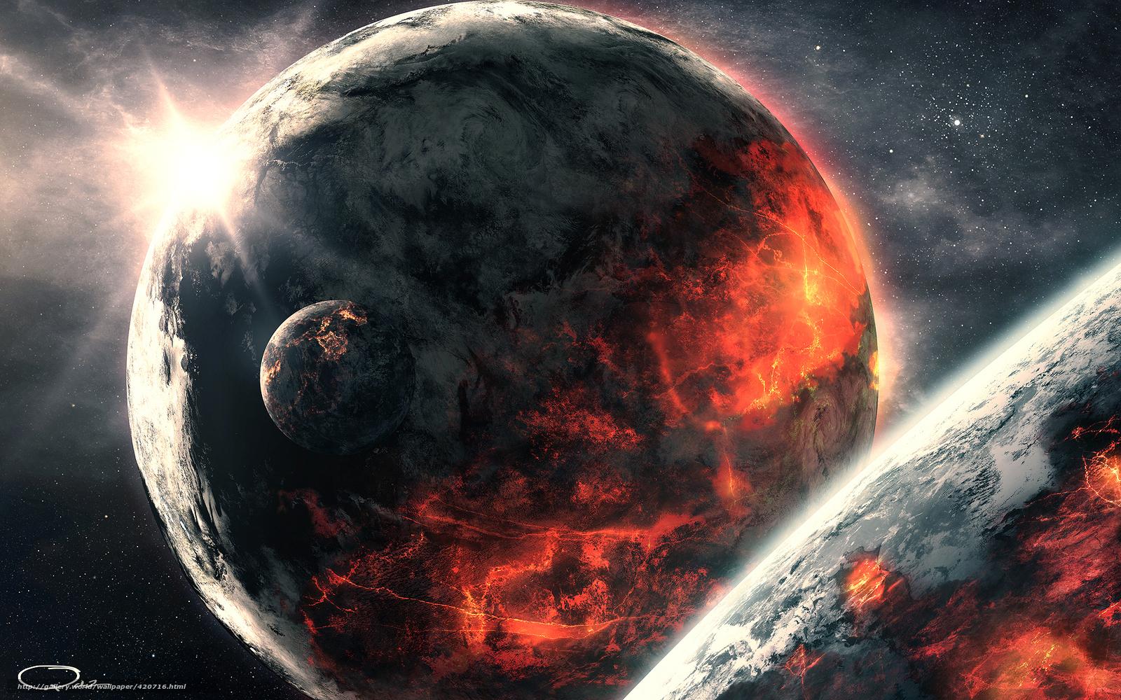 Рабочего стола арт планеты космос