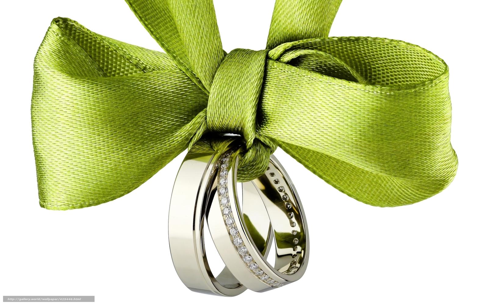 Tlcharger Fond decran ruban, arc, Anneau, anneaux de mariage Fonds d ...