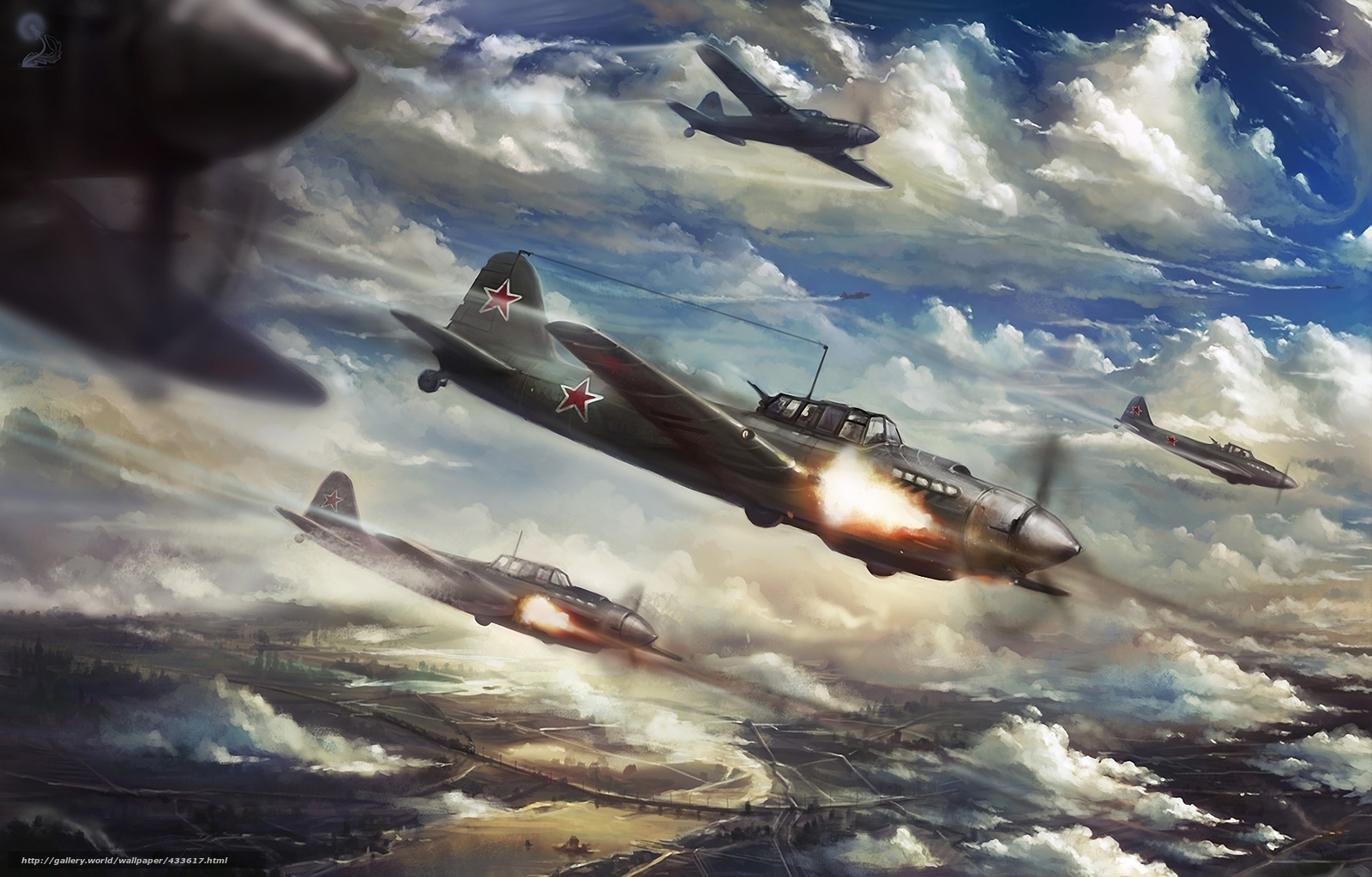 Download wallpaper art aircraft world war ii city free - World war 2 desktop wallpaper ...