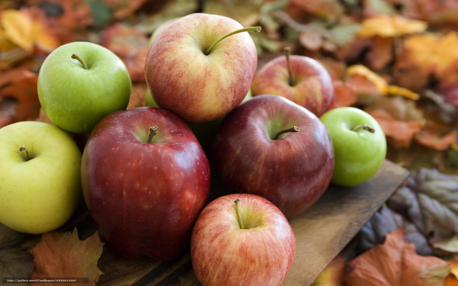 Для рабочего стола осень яблоки сад