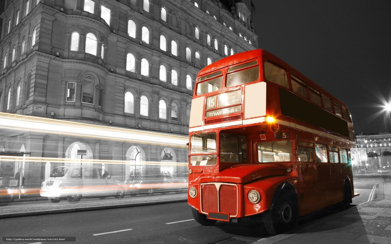 Лондон англия автобус ночь огни