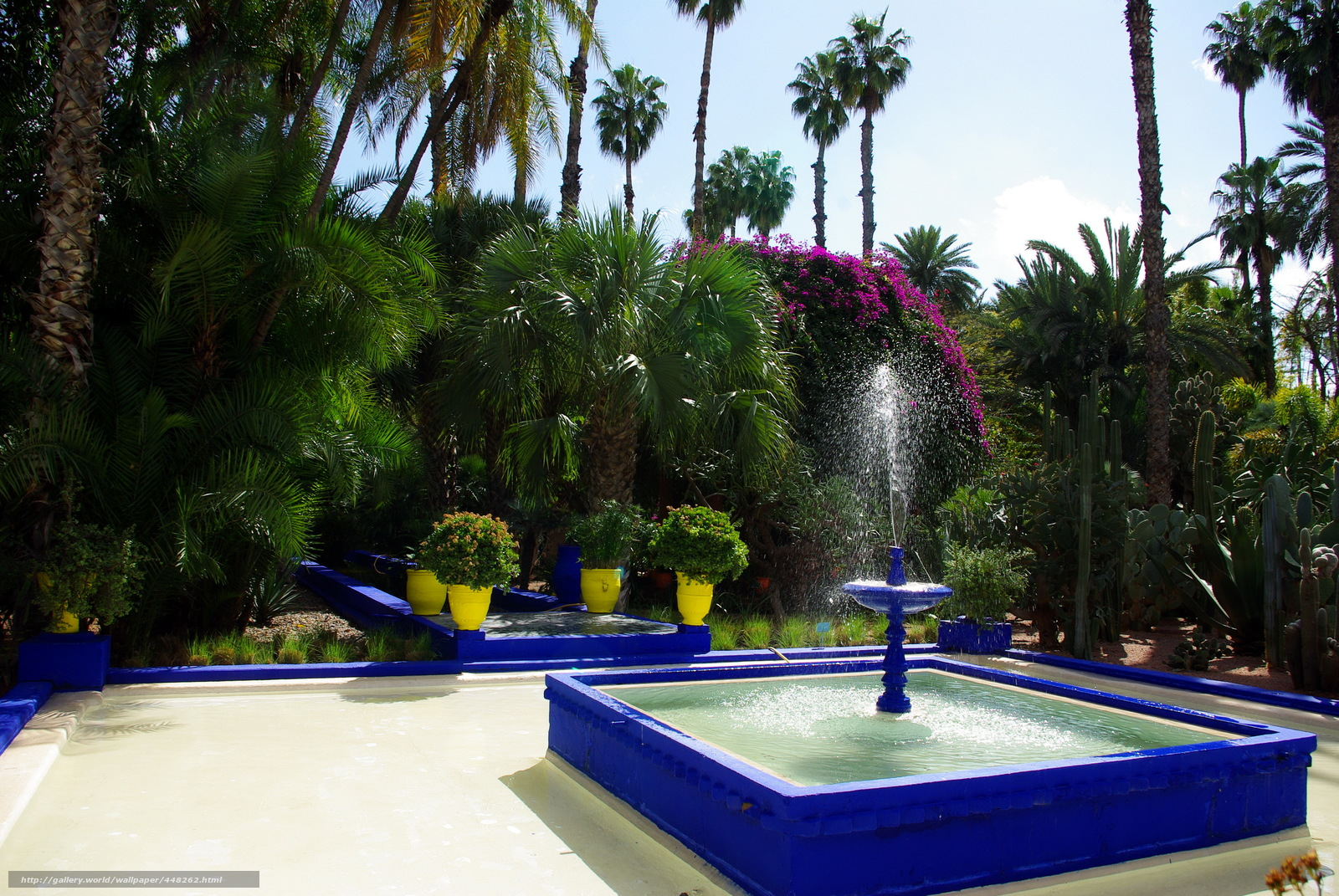 tlcharger fond d 39 ecran maroc marrakech jardin majorelle fontaine fonds d 39 ecran gratuits pour. Black Bedroom Furniture Sets. Home Design Ideas