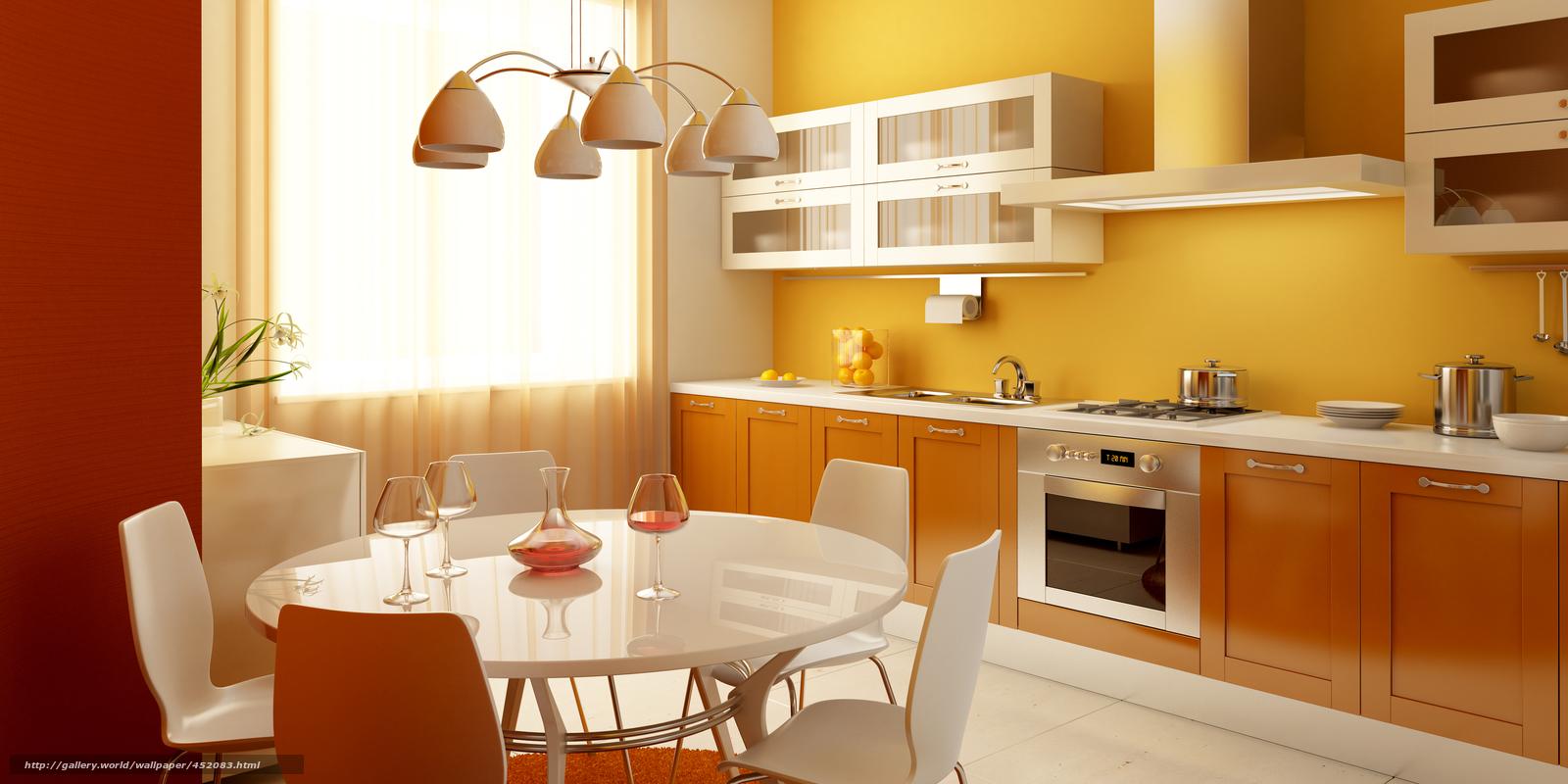 Scaricare Gli Sfondi Cucina Armadietti Tavolo Bicchiere Da Vino  #852E05 1600 800 Armadietti Da Cucina
