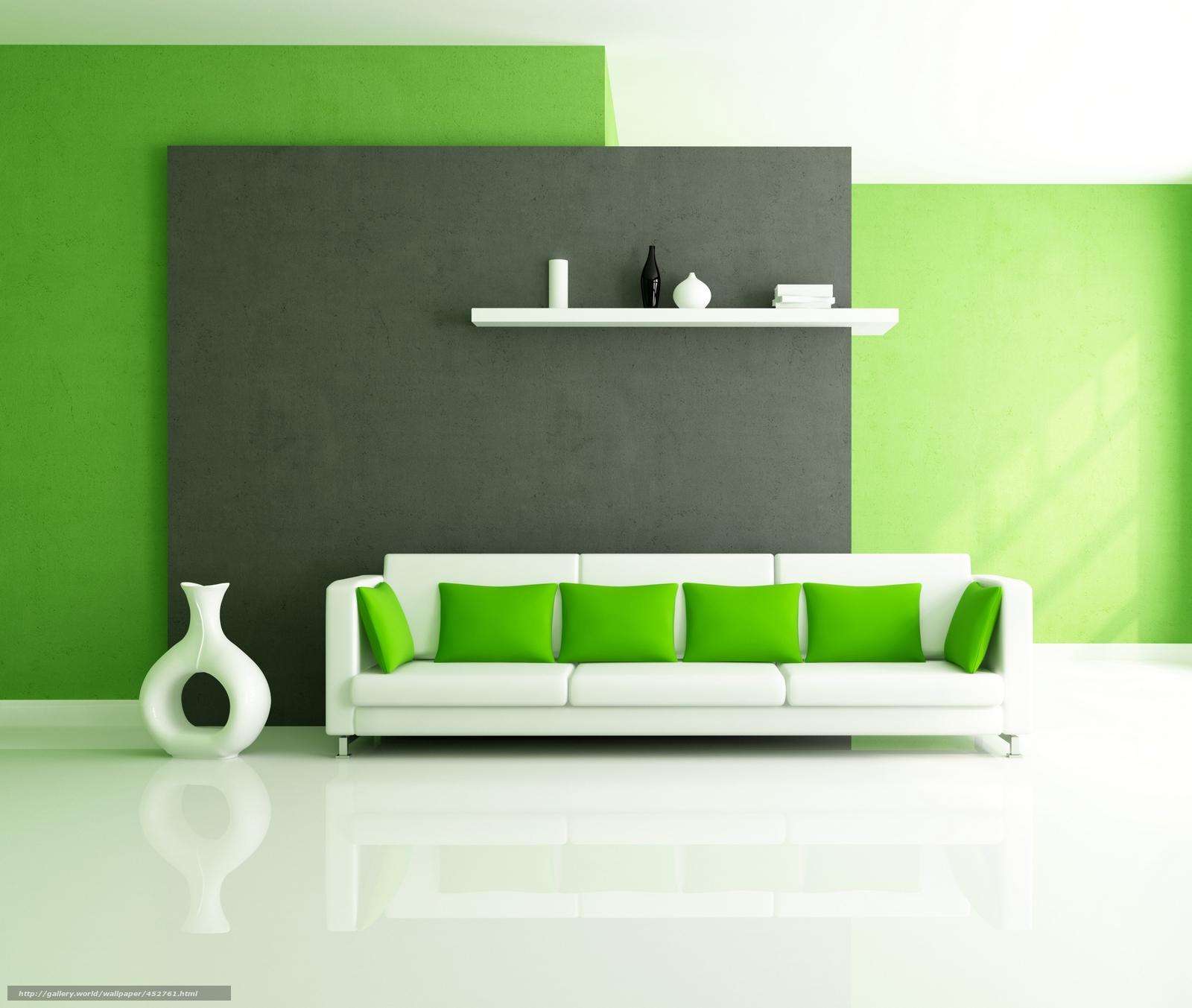 Интерьер стиль дизайн белый зеленый