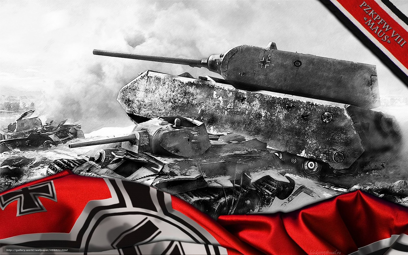 Arte Tapeten Deutschland : World of Tanks German Maus