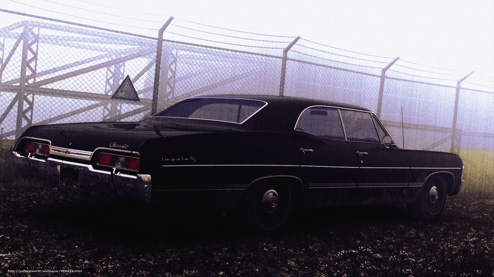 Baixar Wallpaper Chevrolet Impala 1967 Sobrenatural