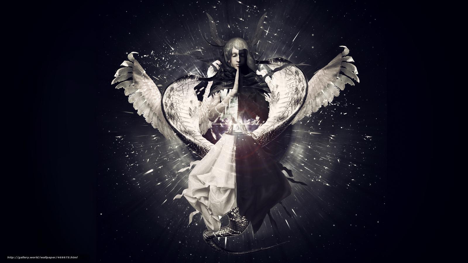 На фото ангел