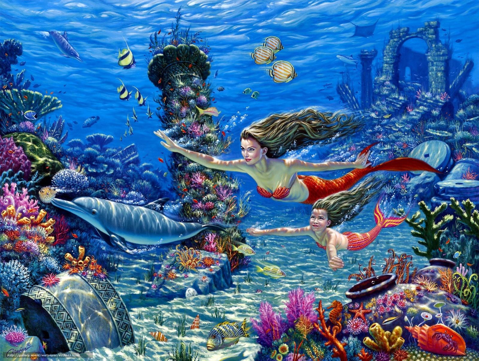 Cormier подводный мир русалки дельфины