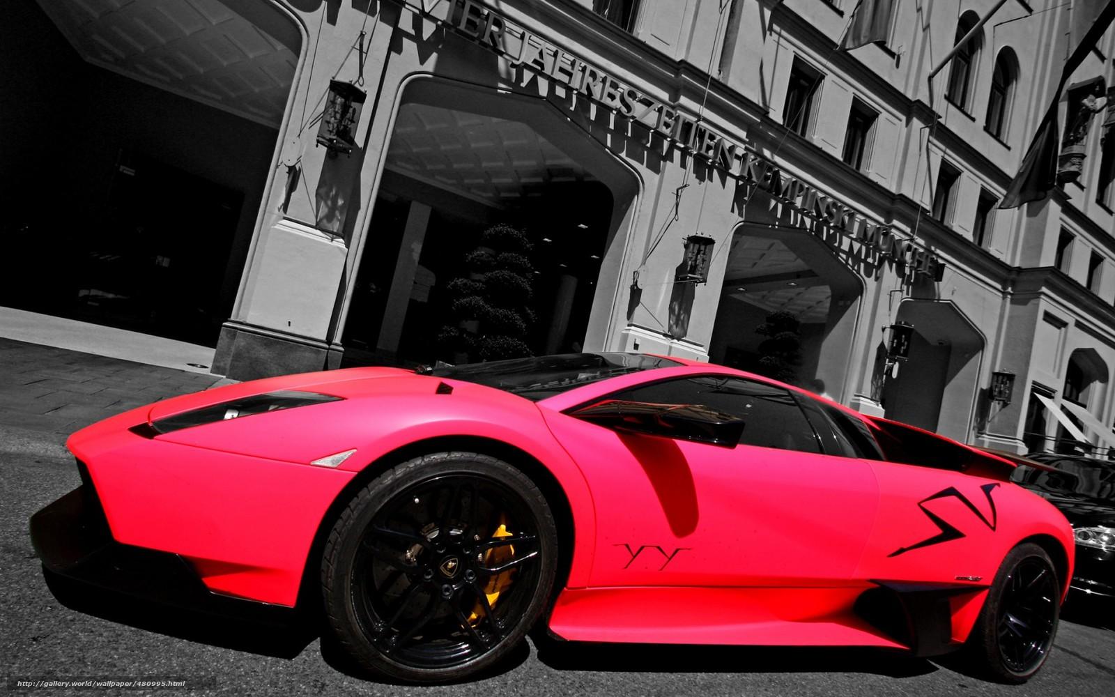 Tlcharger Fond d'ecran Lamborghini, murselago, Supercar, rose Fonds d'ecran gratuits pour votre ...