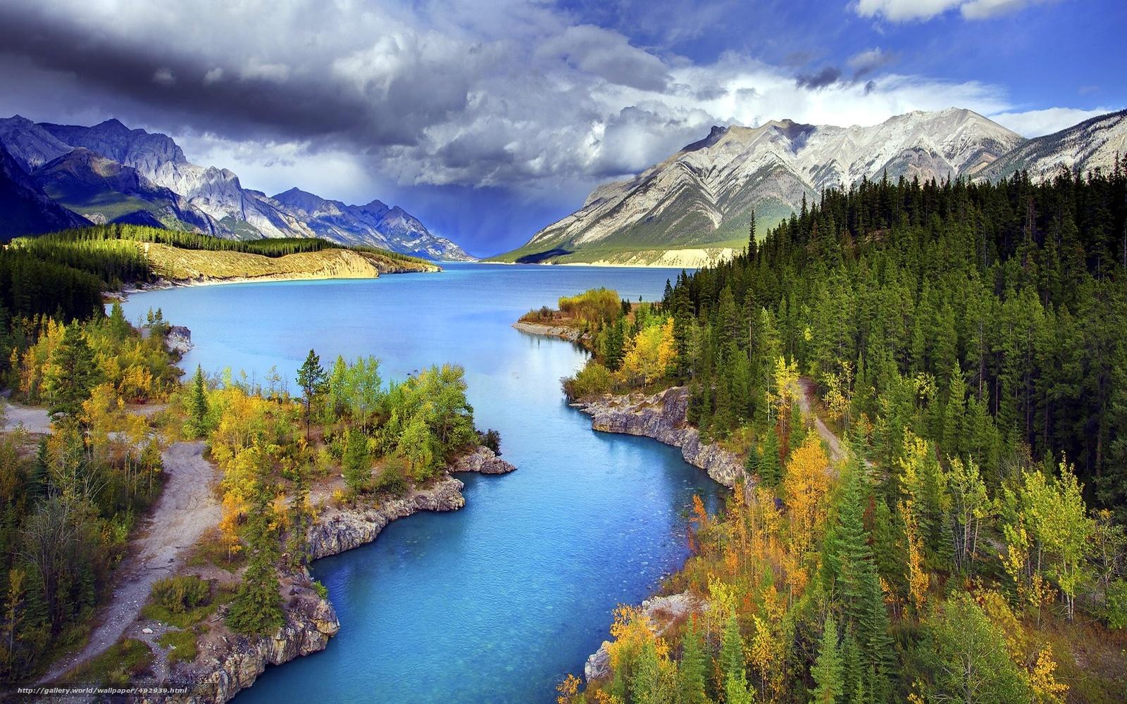 Горы река лес пейзаж все бесплатно