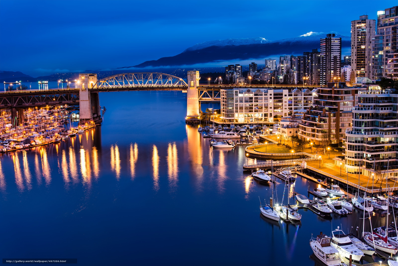 Download wallpaper canada vancouver cities night free for Home wallpaper vancouver