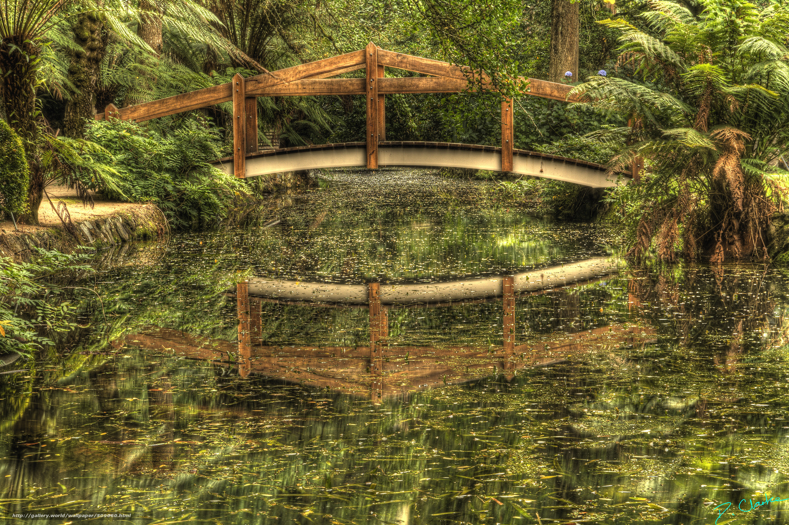 landscape wallpaperwooden bridgecabin - photo #9