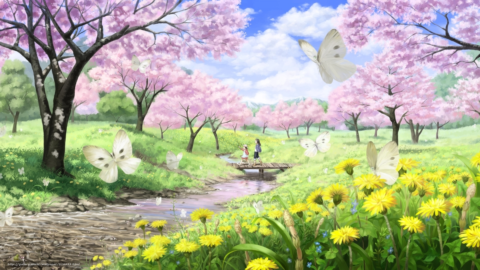 scenery wallpaper fond d 39 cran paysage printemps gratuit. Black Bedroom Furniture Sets. Home Design Ideas