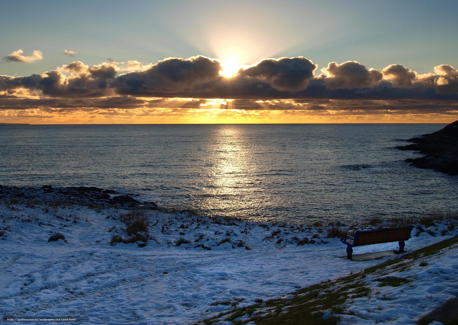 Scaricare gli sfondi inverno mare nuvole sole sfondi for Desktop gratis inverno