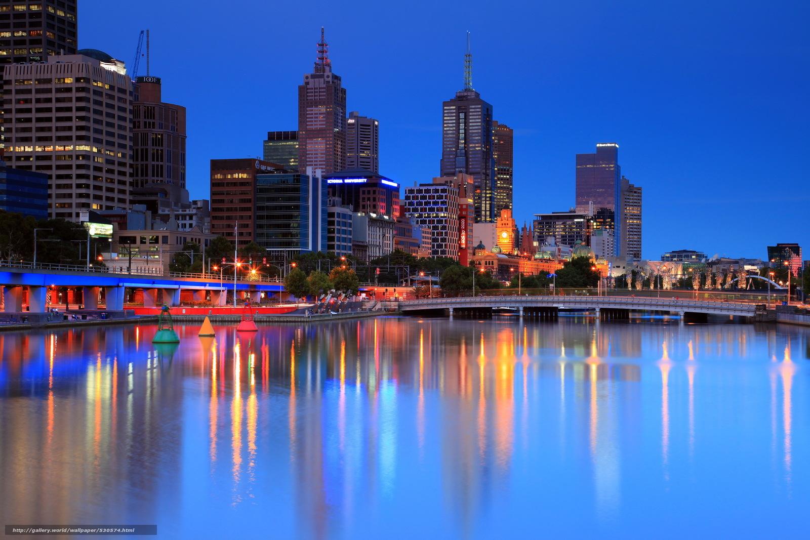 Tlcharger fond d 39 ecran ville australie melbourne soire - Maison entrepot melbourne en australie ...