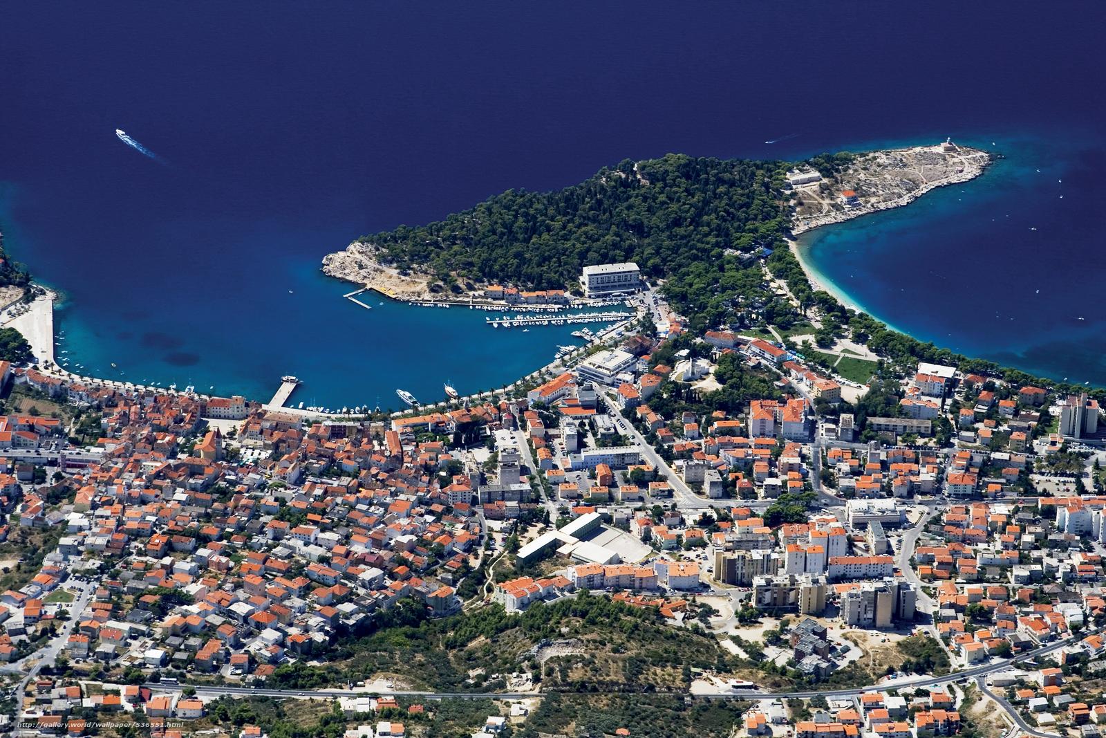 Makarska Croatia  city photos : Download wallpaper makarska, croatia, coast free desktop wallpaper in ...