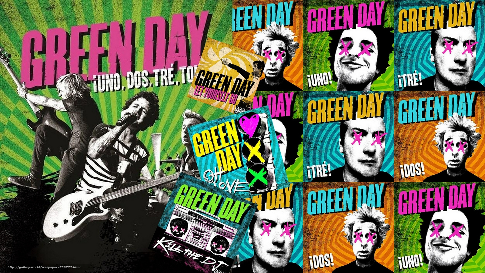 Download wallpaper Green Day, punk rock, group free ...