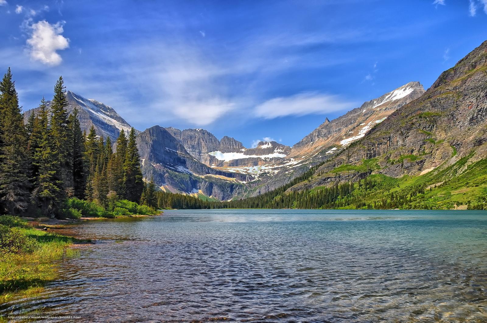 download wallpaper lake josephine glacier national park