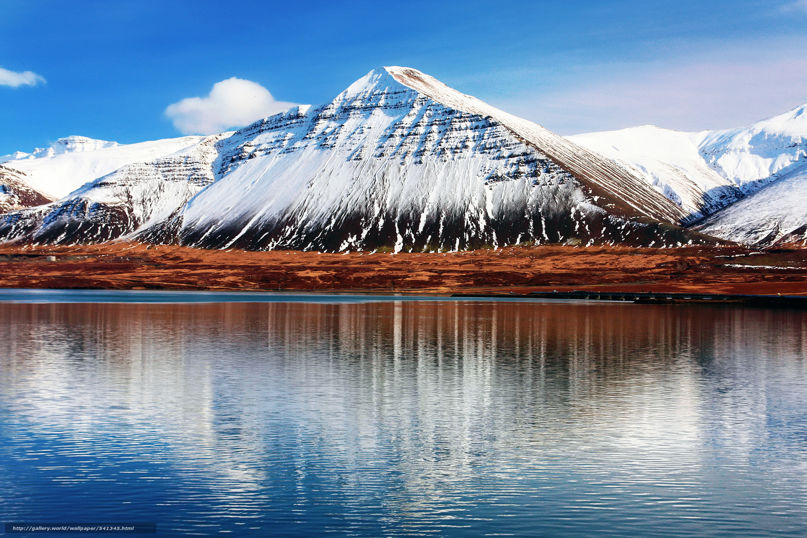 Download wallpaper Mountains,  landscape,  Iceland,  water free desktop wallpaper in the resolution 2048x1365 — picture №541345
