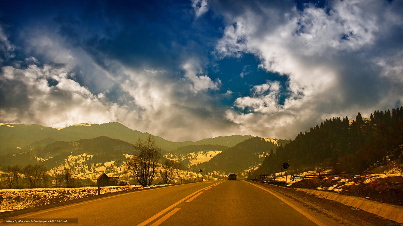 Download wallpaper romania road sky landscape free for Romania landscape