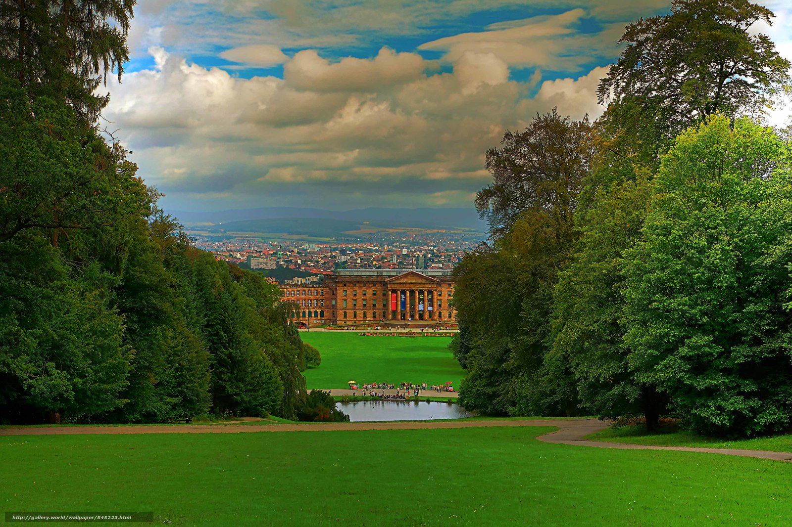 download wallpaper schlosspark kassel germany landscape free desktop wallpaper in the. Black Bedroom Furniture Sets. Home Design Ideas