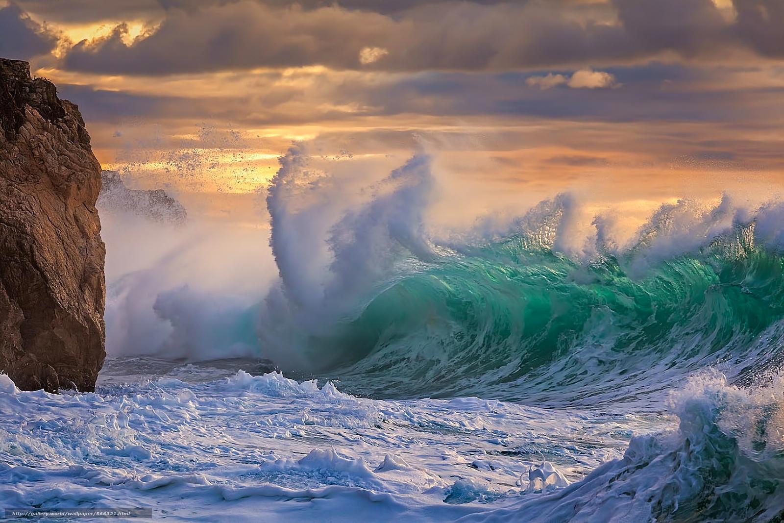 Скачать обои море океан шторм стихия