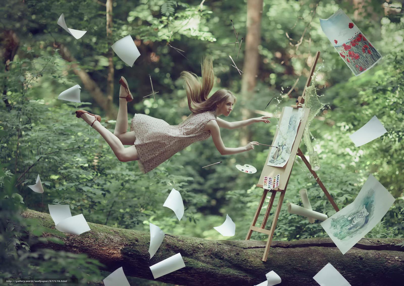 levitating girl wallpaper - photo #16