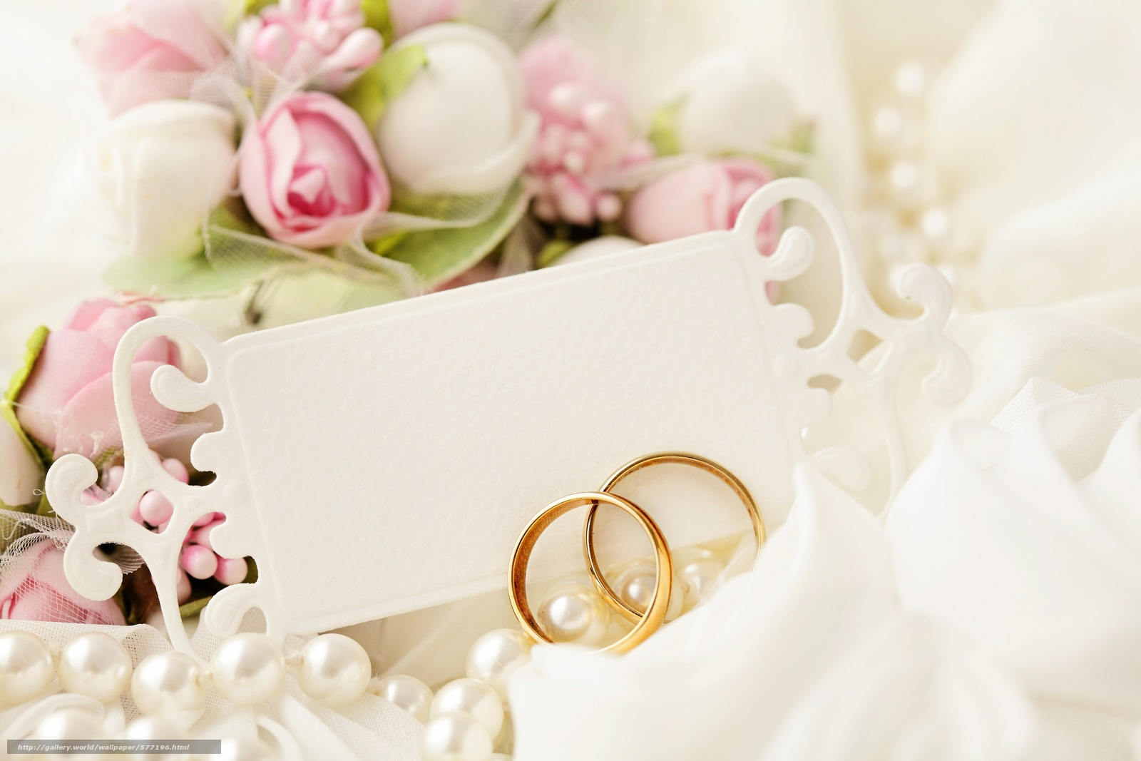 Tlcharger Fond decran Anneaux de mariage, dentelle, mariage, fête ...