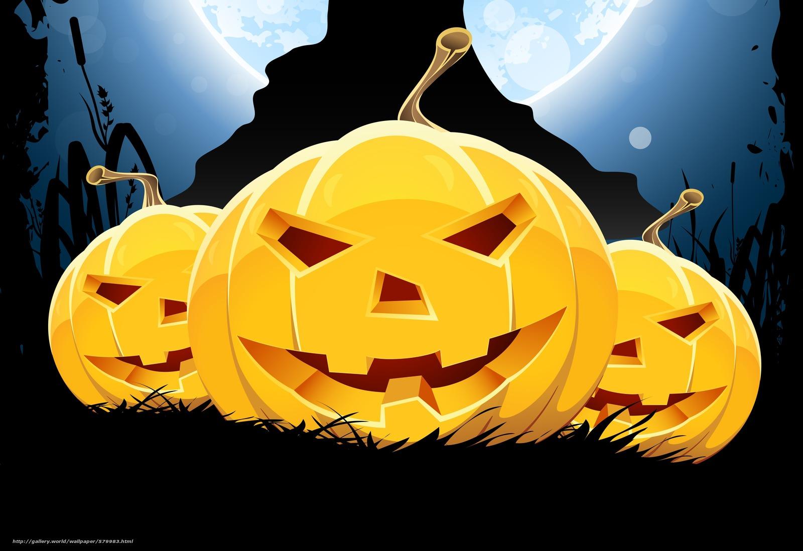 Tlcharger fond d 39 ecran citrouille dr le sourire horreur - Image halloween drole ...