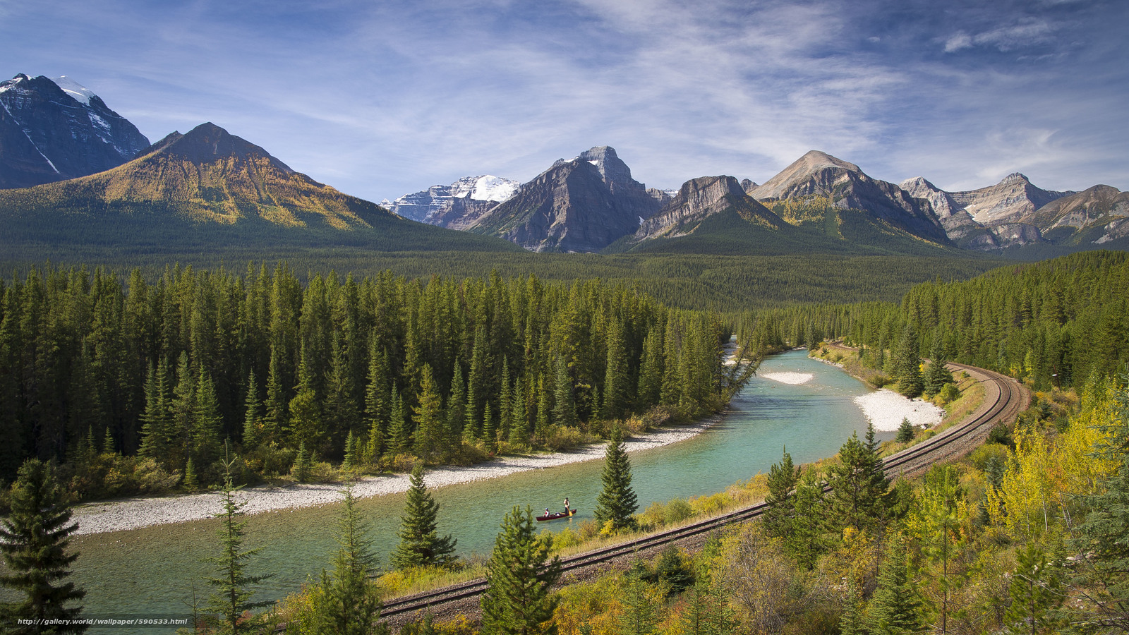 Download hintergrund bow river kanada mountains fluss freie desktop