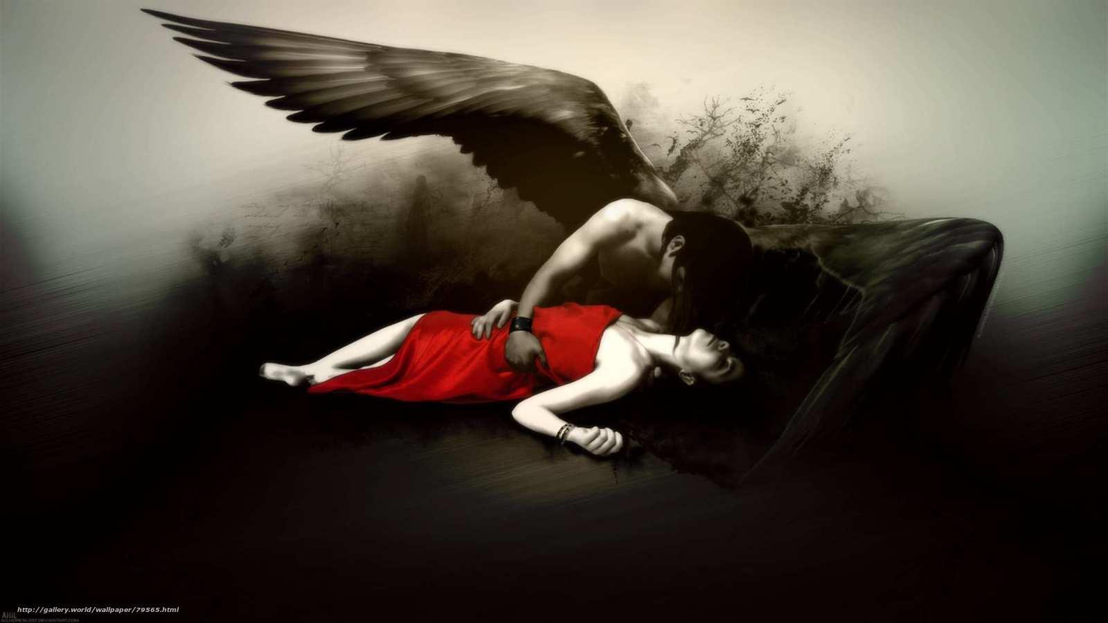 обои fallen angel