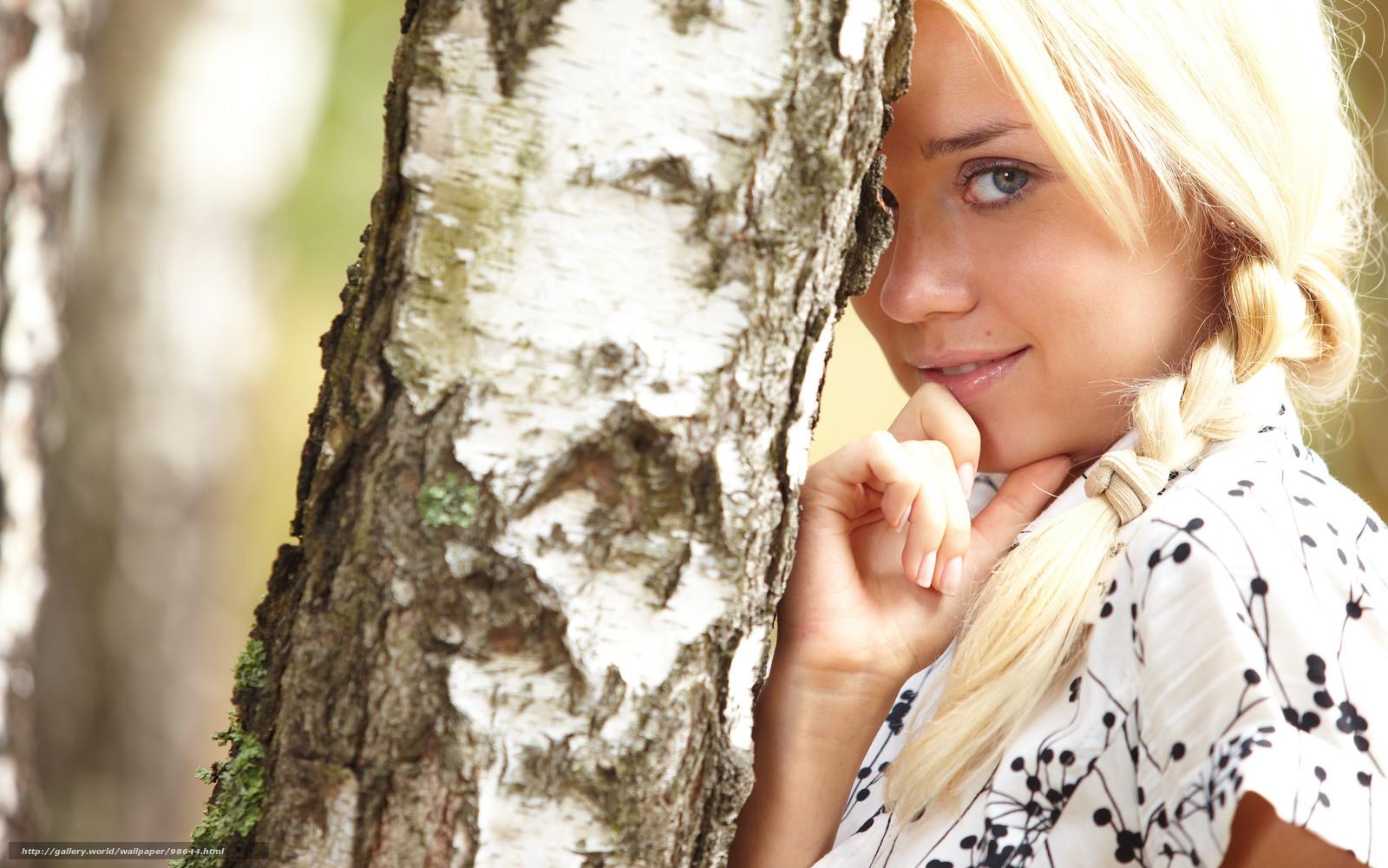 рисунки девушек блондинок: